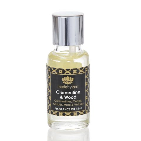 CLEMENTINE & WOOD - Signature Scented Fragrance Oil Made By Zen 15ml